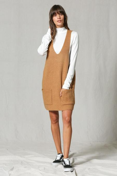 By Together Stevie Sweater Mini Dress - Camel