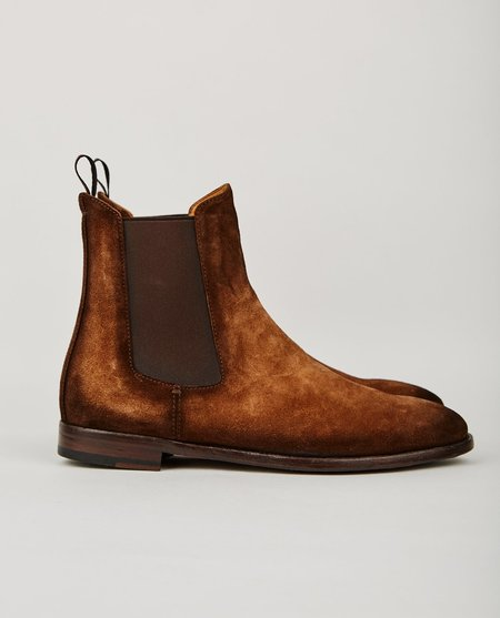 Officine Creative SANDIE CHELSEA BOOT - BROWN SUEDE