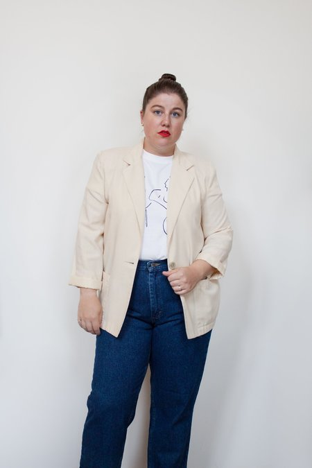 Hazel & Rose Vintage Blazer - Soft Yellow