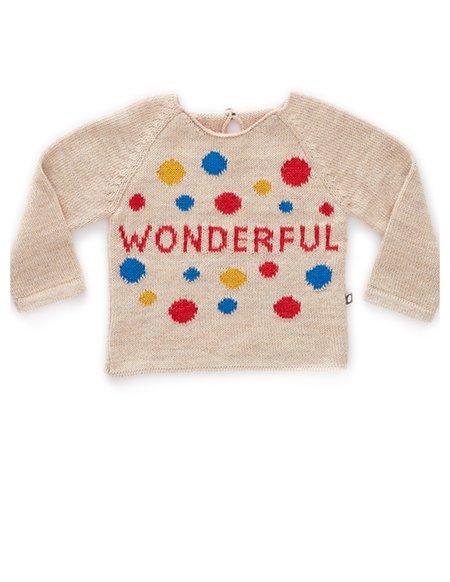 KIds Oeuf Organic Wonderful Sweater - Beige