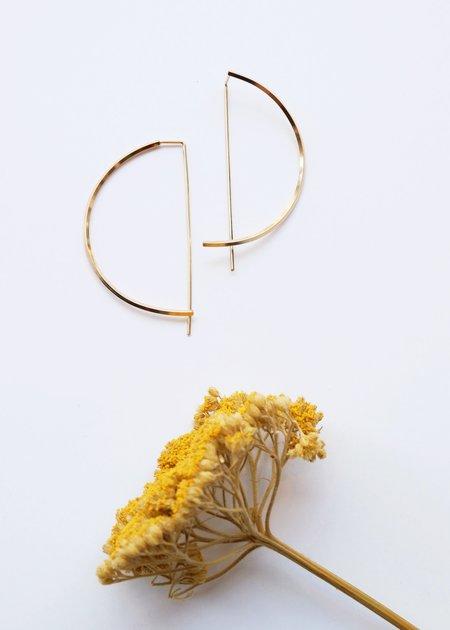 Gabriela Jewelry Half Moon Hoop - GOLD FILLED