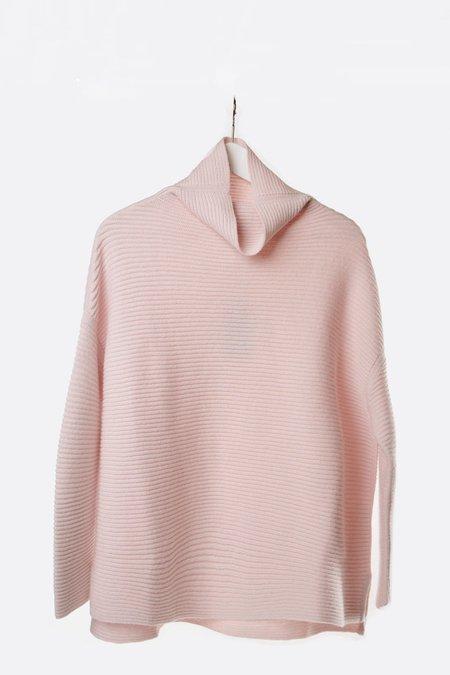 Oyuna Chunky Rib Cashmere Pullover - Rose