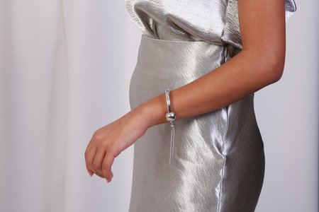 Maslo Jewelry Tipping Point Bracelet - Silver