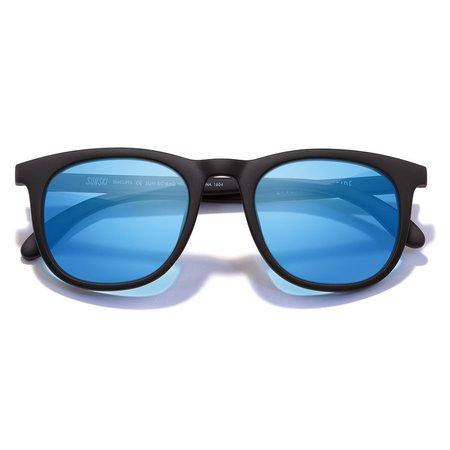 Unisex Sunski Seacliff Sunglasses - Black/Aqua
