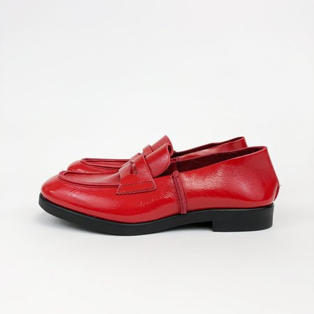 U-Dot Enamel Loafer - RED