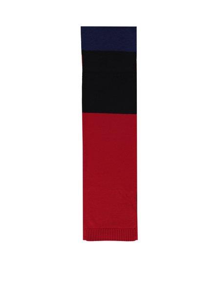 Tres Bien Knit Stripe Merino Blend Scarf - Multi Color
