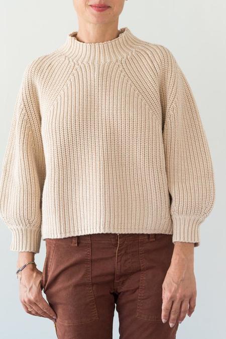 Apiece Apart Merel Funnel Neck Crop Sweater