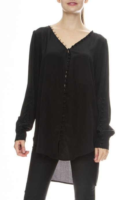 Adam Selman Off the Shoulder Tunic - black