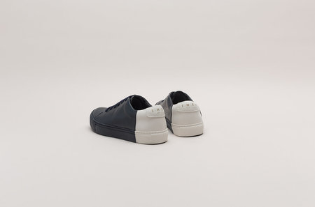 THEY Two-Tone Low Sneakers - Navy/Off White