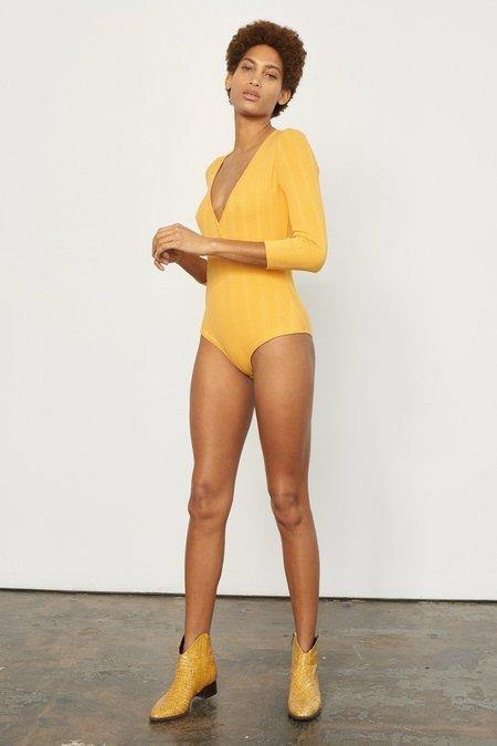 Mara Hoffman Kaia Bodysuit - Yellow