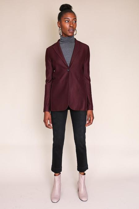 Harris Wharf London Long Fitted Blazer - Bordeaux