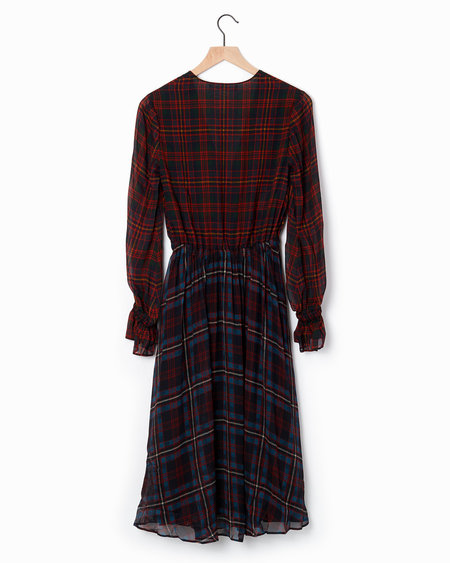 Philosophy di Lorenzo Serafini Tartan Dress - Black/Red/Blue