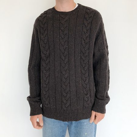 Johan Vintage Cableknit Sweater - Charcoal