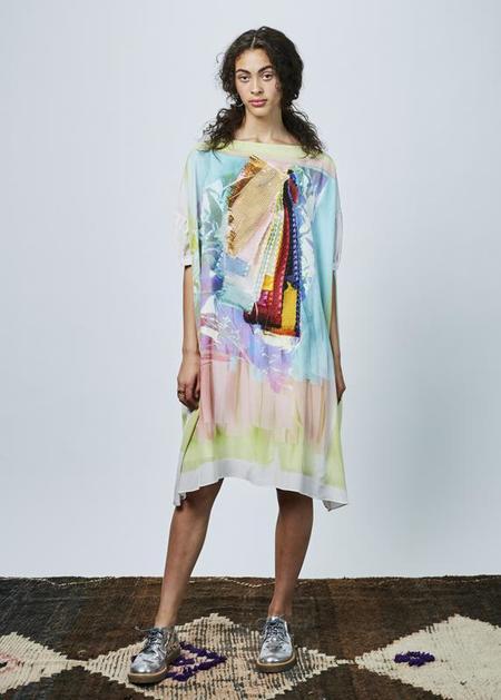 Antoni + Alison Colorful Swatches Oversize Dress - sherbert/multi