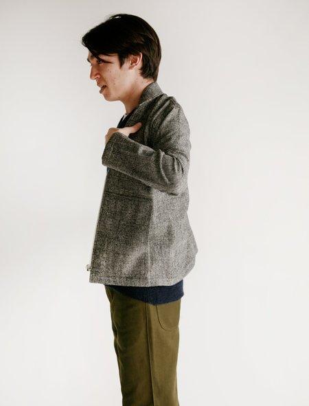 Tres Bien Wool Zip Blouson - Check