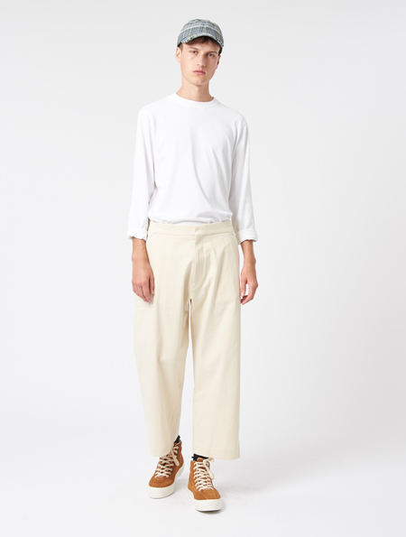 Studio Nicholson Suede head Pants - Cream