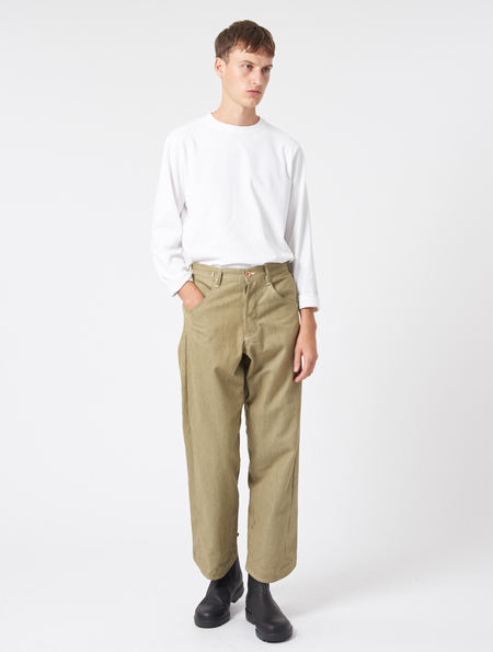 Story Mfg Twisty Boy Jeans - GREEN