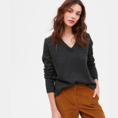 Hartford Minouche Wool & Cashmere Sweater - Charcoal