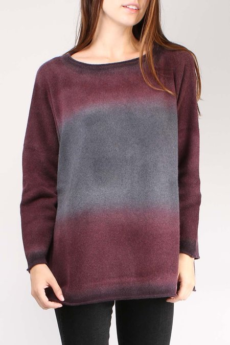 Alonpi Cashmere Geordy Pullover - Burgundy Multi