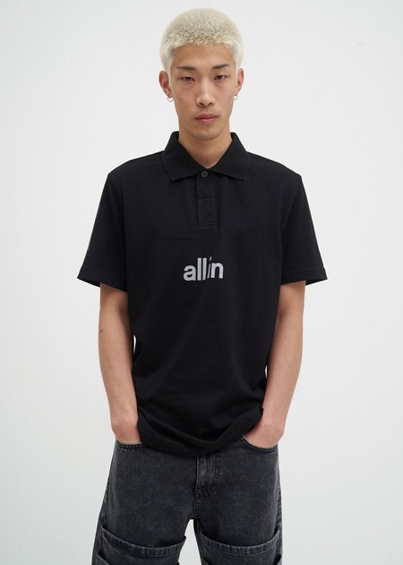 all in Tennis Polo - Black