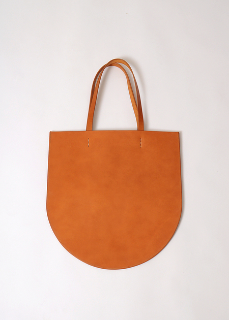 Sara Barner Thompson Leather Tote - TAN