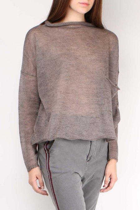 Ma'ry'ya Pocket Long Sleeve Sweater - Tortora
