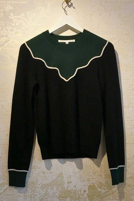 Veronica Beard Atty Cashmere Colour Block Knit Sweater