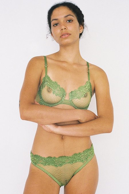 Lonely Lingerie Bonnie Underwire Bra - Pickle