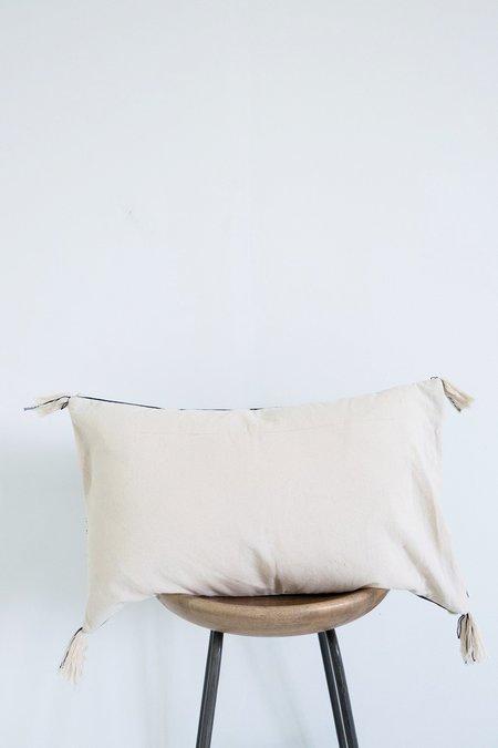 Karu Nagaland Bolster Cushion - Navy/Cream