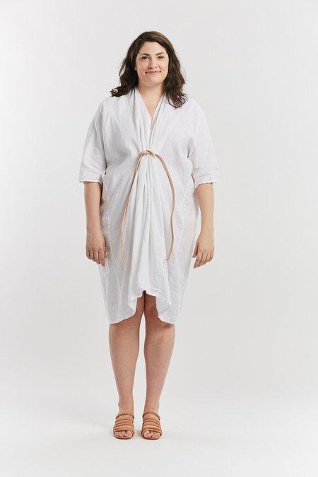 Miranda Bennett Linen O'Keeffe Dress - White