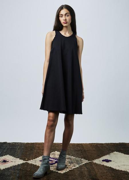AVN Sleeveless Cut-Off Dress - BLACK