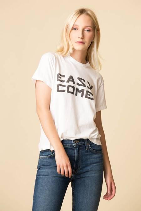 Re/Done Girlfriend Easy Tee - Optic White