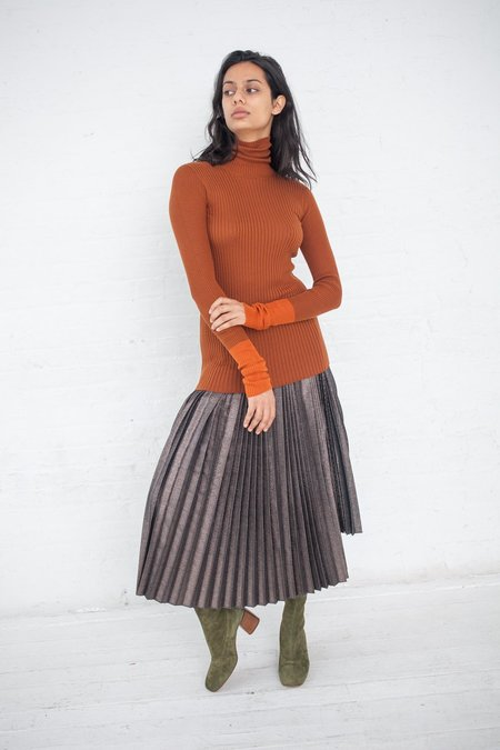 Rito Silk Rib Knit - Orange