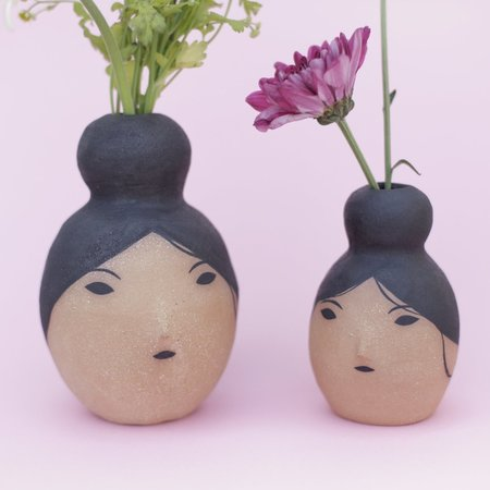 Rami Kim Girl Vase with Bun