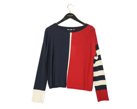 Liviana Conti Sweater - Red Striped