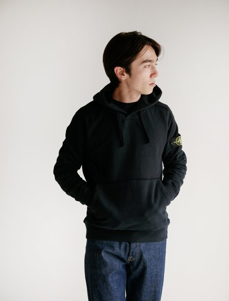 Stone Island Hooded Sweatshirt - Navy