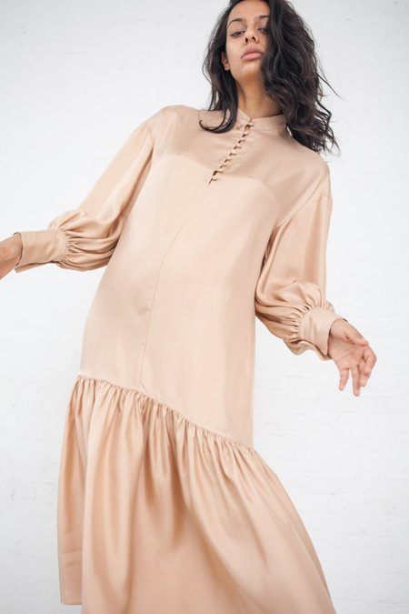 Ryan Roche Oversized Shirt Dress - Buff