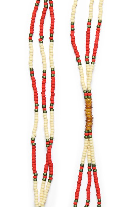 Fortune Goods Montagnard Bead Necklace - Red/Cream/Amber