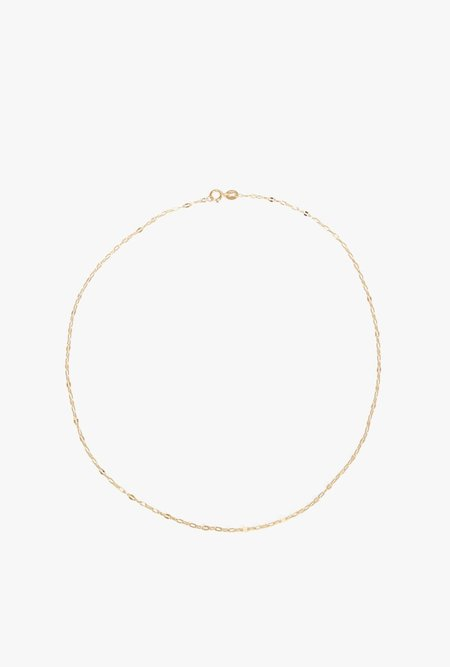 "GJenmi 14"" Tag Link Choker - 14k yellow gold"