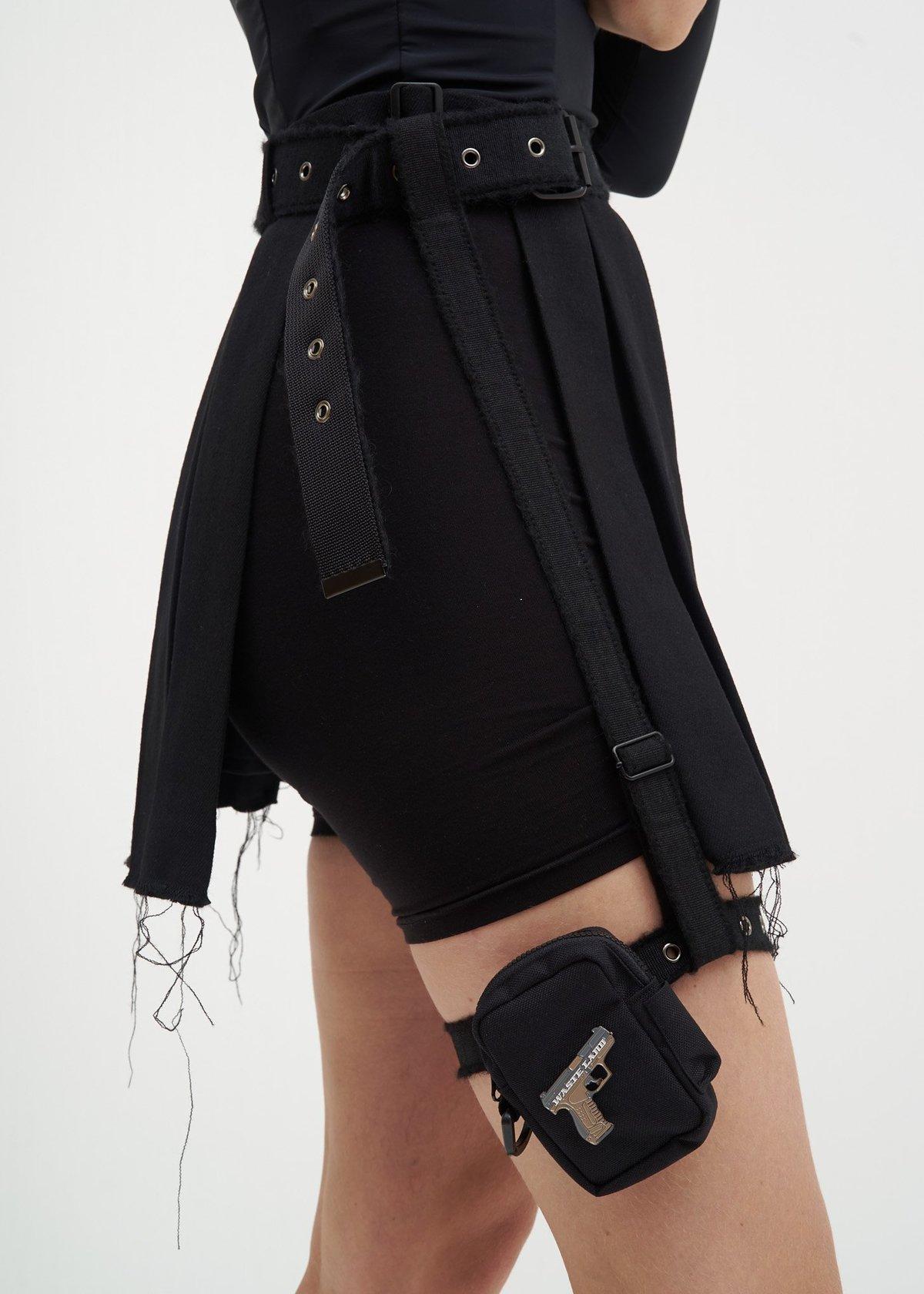 38d96ccac Hyein Seo Wool Skirt w  Garter Belt - Black