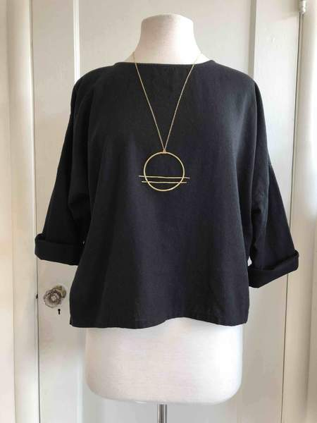 Hygge Siena Dolman Top - Black