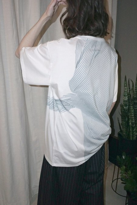 MM6 PRINTED OVERSIZED T-SHIRT - WHITE