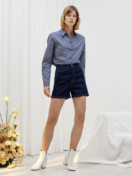 Kowtow Ray Shorts in Dark Denim