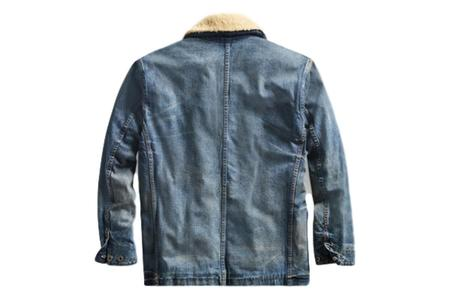 RRL Shearling Collar Denim Jacket