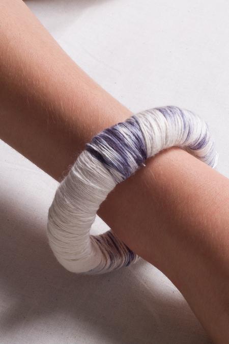 Jen Cogliantry Wrapped Bracelet - Indigo Multi/White Two-Toned