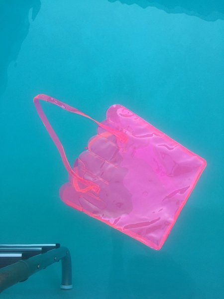CAB Collection Shell Tote - FLUORESCENT PINK