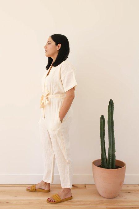 OffOn Clothing Linen Kimono Jumpsuit - Ivory