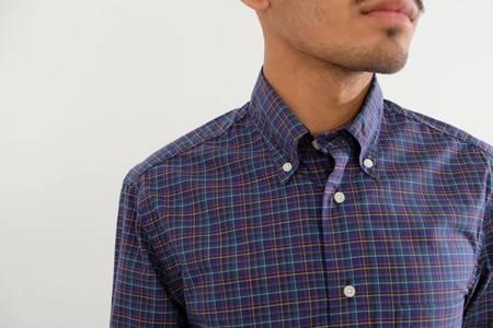 Gitman Vintage Long Sleeve Neat Poplin Shirt - Plaid