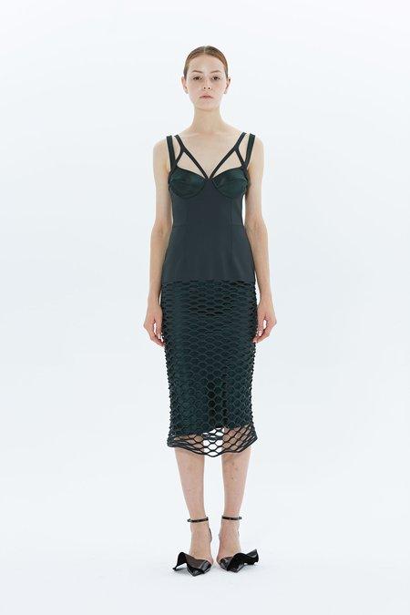 Dion Lee Honeycomb Perf Dress - HUNTER GREEN