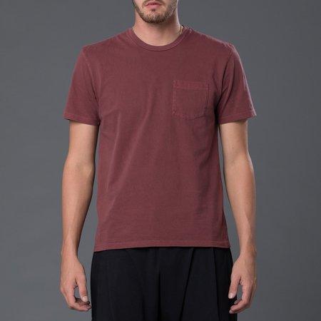 Freemans Sporting Club Garment Dyed Pocket Tee - Burgundy